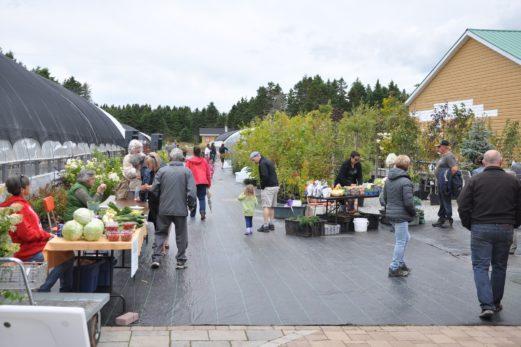 Les gens visitent les Jardins fleuris