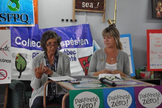 Le Collectif gaspésien se mobilise contre la pauvreté